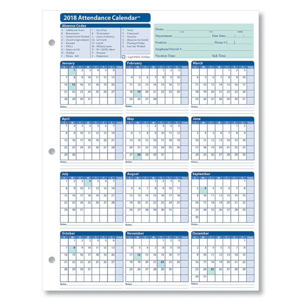 Calendar Sheet Rubber : Attendance calendar