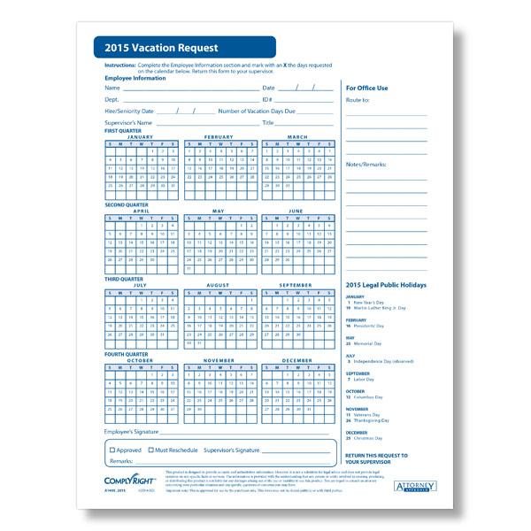 2016 Vacation Scheduler