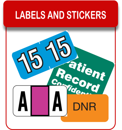 LABELS AND STICKERS RED on clip art,