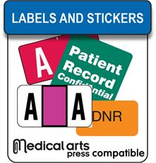 Medical Arts Press compatible labels and stickers