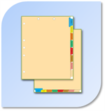 File Indexes & Chart Divider Sets - Pre-Printed