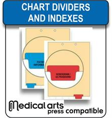 Medical Arts Press compatible chart dividers and indexes