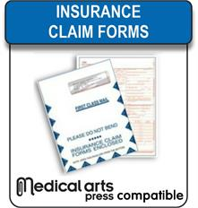 Medical Arts Press compatible Insurance Claims forms